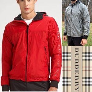 Burberry Sport Packaway Hooded Rain Jacket